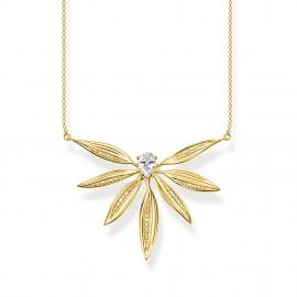 Thomas Sabo KE1950-414-14 Halskette-Anhänger Blätter Gross Silber Vergoldet
