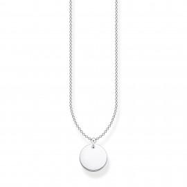 Thomas Sabo KE1958-001-21 Halskette mit Anhänger Coin Rund Silber