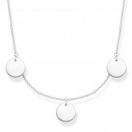 Thomas Sabo KE1959-001-21 Halskette mit Anhänger Damen Drei Coins Silber