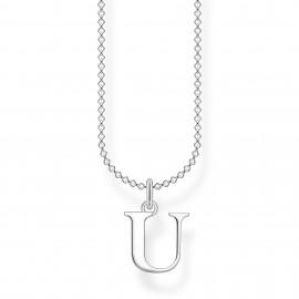 Thomas Sabo KE2030-001-21 Halskette mit Anhänger Buchstabe U Sterling-Silber