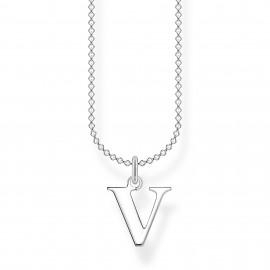 Thomas Sabo KE2031-001-21 Halskette mit Anhänger Buchstabe V Sterling-Silber