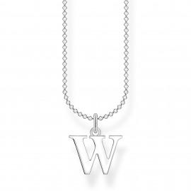 Thomas Sabo KE2032-001-21 Halskette mit Anhänger Buchstabe W Sterling-Silber