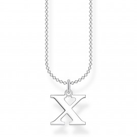 Thomas Sabo KE2033-001-21 Halskette mit Anhänger Buchstabe X Sterling-Silber
