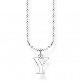Thomas Sabo KE2034-001-21 Halskette mit Anhänger Buchstabe Y Sterling-Silber