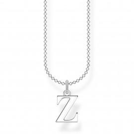 Thomas Sabo KE2035-001-21 Halskette mit Anhänger Buchstabe Z Sterling-Silber