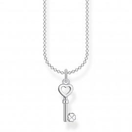 Thomas Sabo KE2042-001-21 Kette Anhänger Schlüssel Herz Kleeblatt Silber