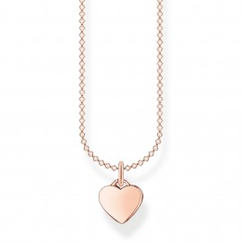 Thomas Sabo KE2049-415-40 Halskette Anhänger Herz Silber Rosé Vergoldet