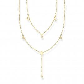 Thomas Sabo KE2070-414-14 Doppel-Halskette in Y-Form Silber Vergoldet