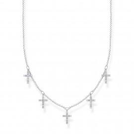 Thomas Sabo KE2077-051-14 Halskette mit Anhänger Damen Kreuze Silber 45 cm