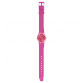Swatch LP158 Armband-Uhr Fairy Cherry Analog Quarz Silikon-Armband