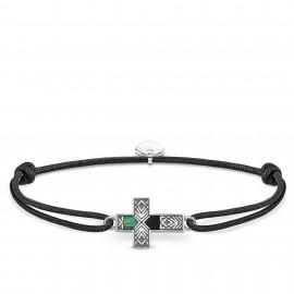 Thomas Sabo Rebel LS083-482-11 Armband Little Secret Kreuz Abalone Perlmutt Silber 27 cm