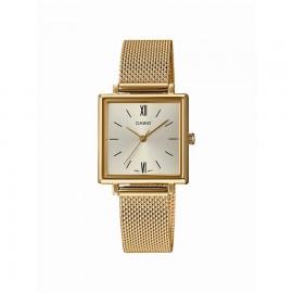 Casio LTP-E155MG-9BEF Damen-Uhr Vintage Quarz Edelstahl-Armband