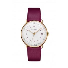 Junghans 047/7850.00 Damen-Uhr Max Bill Analog Quarz mit Leder-Armband
