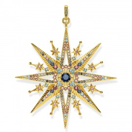 Thomas Sabo PE820-959-7 Anhänger Damen Royalty Stern Silber Vergoldet