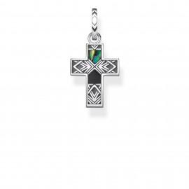 Thomas Sabo Rebel PE835-976-7 Anhänger Kreuz Abalone Perlmutt Silber