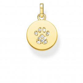 Thomas Sabo PE882-414-14 Ketten-Anhänger Coin Pfote Katze Gold Vergoldet