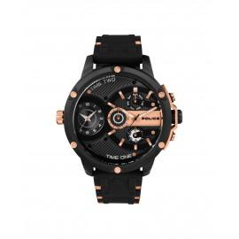 Police PL15049JSB.02P Herren-Uhr Leader Multifunktion mit Silikon Armband