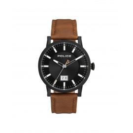 Police PL15404JSB.02A Herren-Uhr Collin Analog Quarz mit Leder-Armband