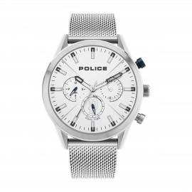Police PL16021JS/04MM Herren-Uhr Silfra Multifunktion Quarz Edelstahl-Band