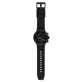 Swatch SB02B400 Armband-Uhr Checkpoint Black Chronograph Quarz Silikon-Armband
