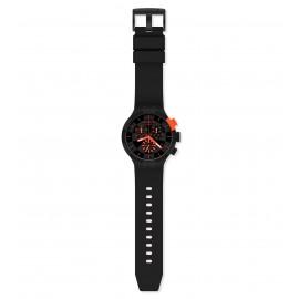 Swatch SB02B402 Armband-Uhr Checkpoint Red Chronograph Quarz Silikon-Armband