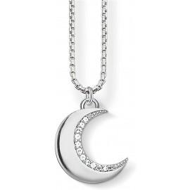 Thomas Sabo SCKE150211 Halskette mit Anhänger Damen Mond Sterling-Silber Zirkonia