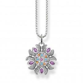 Thomas Sabo SCKE150286 Halskette mit Anhänger Damen Kaleidoskop Silber