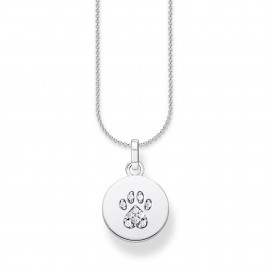 Thomas Sabo SCKE150287 Halskette mit Anhänger Coin Pfote Katze Silber
