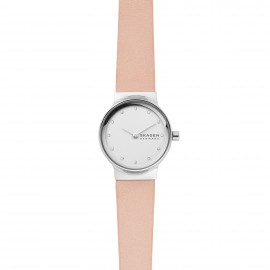 Skagen SKW2770 Damen-Uhr Freja Analog Quarz mit Leder-Armband Ø 26 mm