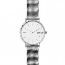 Skagen SKW2785 Damen-Uhr Signatur Analog Quarz Milanaise-Band Silber Ø 38 mm