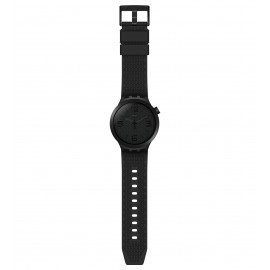 Swatch SO27B100 Armband-Uhr BBBlack Analog Quarz mit Silikon-Band