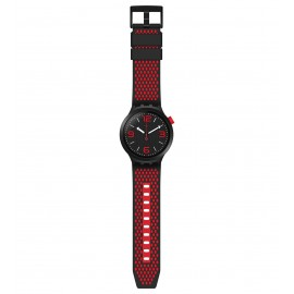 Swatch SO27B102 Armbanduhr BBBlood Quarz Silikon Armband Ø 47,00 mm