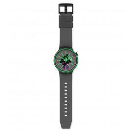 Swatch SO27B113 Armband-Uhr Pink Taste Analog Quarz Silikon-Armband
