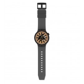 Swatch SO27B115 Armband-Uhr Dark Taste Analog Quarz Silikon-Armband
