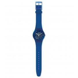 Swatch SUON142 Armband-Uhr Blue Sirup Analog Quarz Silikon-Armband