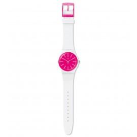 Swatch SUOW162 Armbanduhr Strawbeon Analog Quarz Silikon Armband