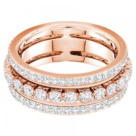 Swarovski Ring Damen Further Weiss Rosé Vergoldung