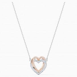 Swarovski 5518868 Halskette mit Anhänger Damen Infinity Heart Weiss Rosé Vergoldet
