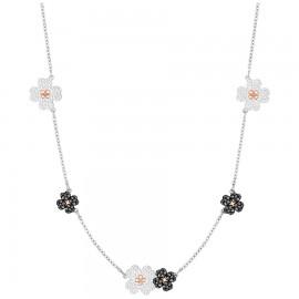 Swarovski 5389491 Kette Choker Halsband Schwarz Weiss Silber-Rosé-Ton
