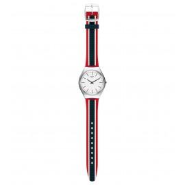 Swatch SYXS114 Armbanduhr Skinflag Analog Quarz mit Silikon Armband Ø 38,00 mm
