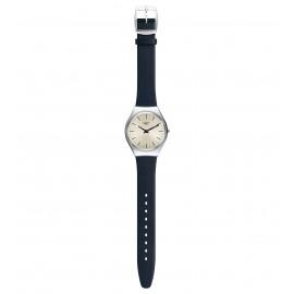 Swatch SYXS115 Armbanduhr Skinazul Quarz Leder Armband Ø 38,00 mm
