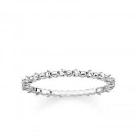 Thomas Sabo TR2153-051-14 Ring Dots mit Weissen Steinen Silber