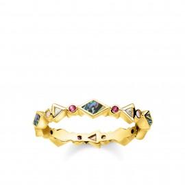 Thomas Sabo TR2229-295-7 Ring Damen Farbige Steine Perlmutt Gold