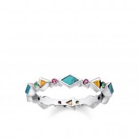 Thomas Sabo TR2229-984-7 Ring Damen Farbige Steine Perlmutt Silber
