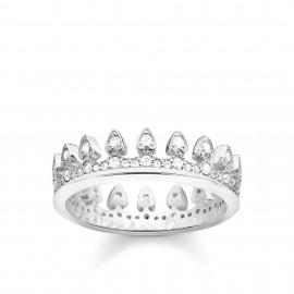 Thomas Sabo TR2235-051-14 Ring Damen Krone Silber Weiss