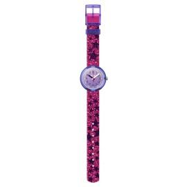 FlikFlak FPNP054 Mädchen-Uhr Glitter-Stars Analog Quarz Textil-Armband