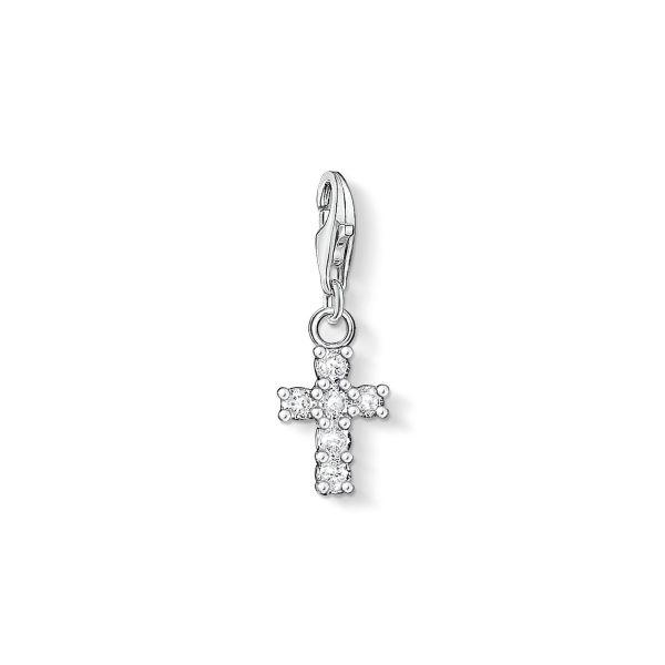 Thomas Sabo 0054-051-14 Charm-Anhänger Damen Kreuz Zirkonia Sterling-Silber