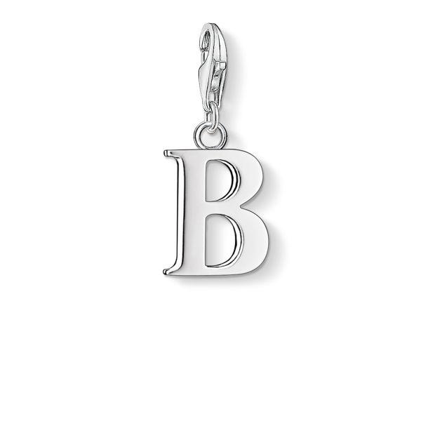 Thomas Sabo 0176-001-12 Charm-Anhänger Buchstabe B Sterling-Silber