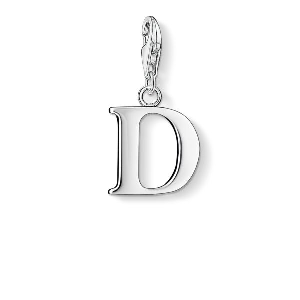 Thomas Sabo 0178-001-12 Charm-Anhänger Buchstabe D Sterling-Silber