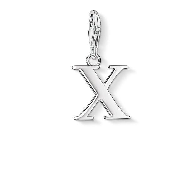 Thomas Sabo 0198-001-12 Charm-Anhänger Buchstabe X Sterling-Silber